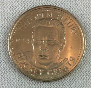 NHL 1996-97 Hockey Greats Coin #14-Theoren Fleury-Calgary Flames