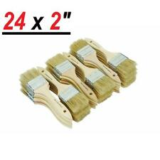 "24 pc 2"" Chip Brush Brushes Disposable Paint Glue Touchups 100% Pure Bristle"