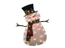 "32"" 2D Pre-lit Christmas Lighted Snowman Xmas Outdoor Yard Decoration"
