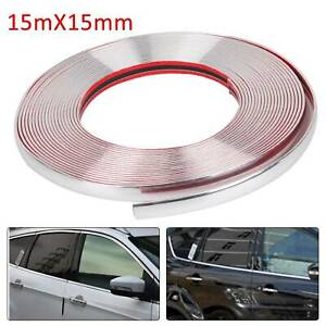 15MM X 15M Self Adhesive Tape Window Silver Chrome Styling Moulding Trim Strip