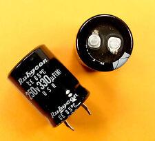 4 pcs Rubycon USR 330uf 250v Snap in Radial Electrolytic Capacitor 330mfd