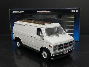 1983 GMC Vandura Work Cargo Van Custom White 1/18 Scale Kodeblake Exclusive !