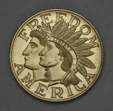 Freedom America Medal Native American Liberty Excellent Conditoiin