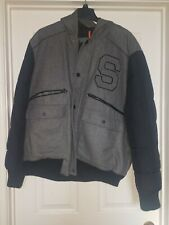 Sean John Black and Grey coat with hood. Pre-owned XXL.