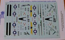 Microscale Decal 1:72 Scale #72-812 / Douglas A-4C Skyhawks: VA-95 & VA-112