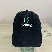 KRAFTIG BEER - NWOT Black Strapback Low Profile Workwear St Louis Dad Hat Cap