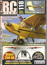 RC PILOT N°118 PLAN : MORANE H / PIPER J3 ECH. 1/2 / BLADE 350 QX / SPACEWALKER