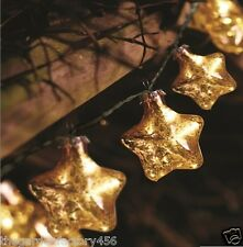 String Lights Bed Bedroom Decoration Fairy Gold Stellar Glass Star Battery