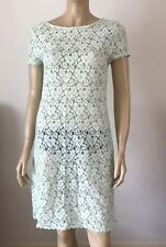 MARKS & SPENCER Peppermint Green Cap Sleeve Floral Dress Size 10