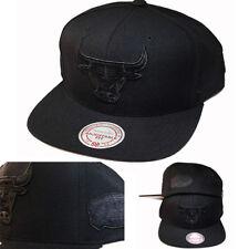 9324b8f6 Mitchell & Ness Chicago Bulls Black Snapback Hat 1998 NBA Finals Side Patch  Cap