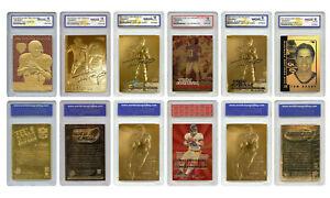 Tom Brady Mega-Deal Licensed Cards - All Graded Gem Mint 10 - SET OF 6 - LOW $$$