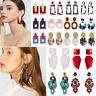 Fashion Elegant Crystal Rhinestone Ear Stud Dangle Drop Earrings Wedding Jewelry