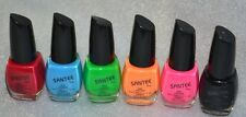 Santee Nail Lacquer Polish Metallics Shimmer Glitter Set of 6 Green Red Gold