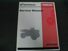 Honda OEM ATC200X ATC200 NEW 1986-1987 Service manual 61HB501 Reprint