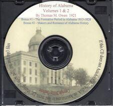 History of Alabama and Dictionary of Biography+ Bonus Book