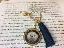 UNITED STATES NAVY KEYCHAIN NEW WITH TAG GOLDEN KEY RING WITH CLIP
