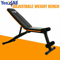 Yes4All Adjustable Weight Bench Lifting Incline Foldable Full Body Workout Gym
