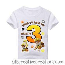 Paw Patrol T Shirt, Paw patrol, Birthday, Personalized shirts, Rubble