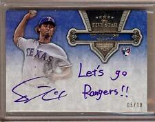 "2012 TOPPS FIVE STAR QUOTABLE YU DARVISH RC AUTO ""LET'S GO RANGERS!!"" 05/10!!"