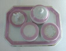 Necessaire, Porzellan, Puder/Creme-Dose, Ringhalter, rosa-gold, Bad, Frankreich