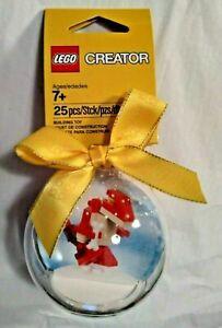 LEGO Christmas Tree Bauble Ornament Dinosaur Fire Truck Snow Hut Dog Reindeer