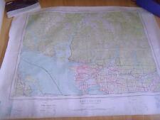 Carta topografica VINTAGE Vancouver BRITISH COLUMBIA PRIMA EDIZIONE 1:250,000 92G