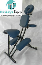 Quality Portable Massage Saddle Chair, light, carry bag BNIB, medical, BLUE