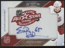2011-12 Panini Dominion Erik Karlsson All-Star Game Logo Patch Auto 6/15