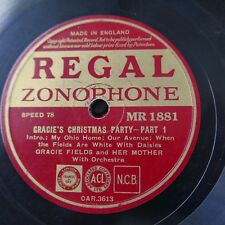 78rpm GRACIE FIELDS gracie`s christmas party MR 1881