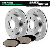 For 93-97 Geo,Toyota Prizm,Corolla FRONT Calipers+Drill Slot Brake Rotors+Pads