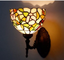 Tiffany Style Wall Light Uplighter Handcrafted Stained Night Lamps Glass Lamp