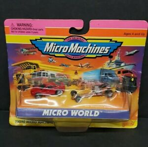 Micro Machines #75290 Micro World Dodge Avenger and Slingshot Dragster