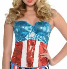 Marvel & American Dream Captain America Cosplay / Costume Sequined Corset M/L