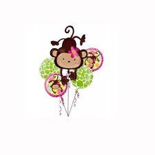 MONKEY LOVE FOIL BALLOON BOUQUET BIRTHDAY MYLAR FOIL - 5 BALLOONS