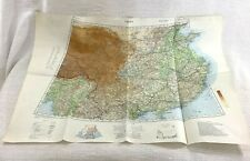 1939 WW2 Military Map of China Asia The Far East Original War Office Issue