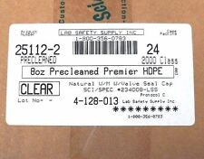 CASE OF 24 LAB SAFETY SUPPLY 25112-2 CLEAR 8 OZ PRECLEANED PREMIER HDPE BOTTLES