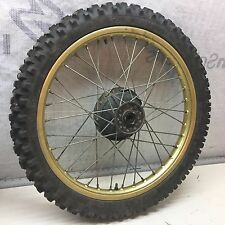 "YZ490 YZ Yamaha front wheel rim hub tire 80/100 * 21"" bearings FIM 51R"