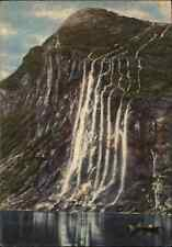 NORWEGEN Norge Norway ~1940/50 Fjord Sostre GEIRANGER Wasserfall Waterfall Falls