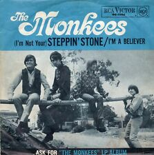 "THE MONKEES - STEPPIN' STONE/ I'M A BELIEVER ( GERMAN RCA BLACK LABEL 7""PS) 1966"