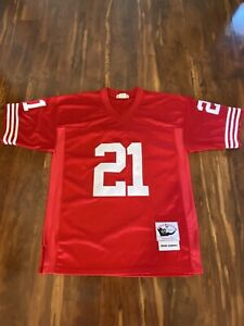 Deion Sanders San Francisco 49ers Jersey NFL Throwback Mitchell And Ness Size 48