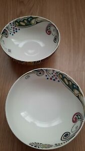 DENBY MONSOON COSMIC 2 x SOUP / CEREAL BOWLS, excellent condition