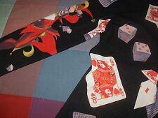 jersey chaqueta Marex Italia estampado cartas arlequin dados poker juego botones