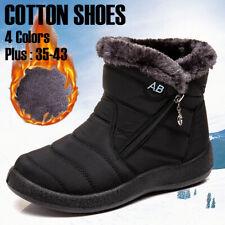 Mujer Invierno Cálido Zapatos Botas De Nieve Piel Forrado Resbalón en Zapatos de Tobillo Cálido Impermeable