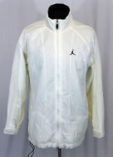 Men's Air Jordan Full Zip Warm Up Basketball Gray & Blue Track Jacket Sz Large