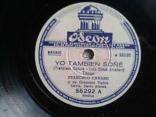 RARO TANGO PORQE DOBLAS LAS CAMPANAS / YO TAMBIEN SONE ODEON 55292 VG+ 1950