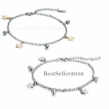 Bead Chain Anklet Ankle Bracelet Jewelry 2pcs Fashion Charm Womens Glossy Star