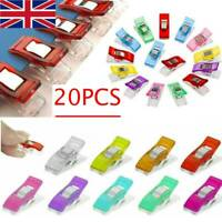 20pcs Mini Wonder Clips For Fabric Craft Quilting Sewing Knitting Crochet DIY