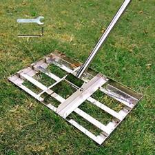 SurmountWay Lawn Leveling Rake w/ Heavy Duty Stainless Steel Pole 6.5FT,17 X10In