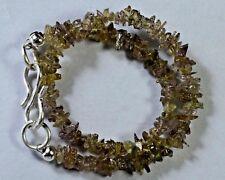 """N-1922 Color Change Garnet Natural Gemstone Uncut Chips Beads 20ct 7"""" Bracelet $"""