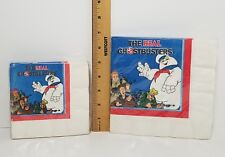 """Set of 2 NOS Sealed Vintage 1986 The Real Ghostbusters Party Napkins 10"""", 13"""""""